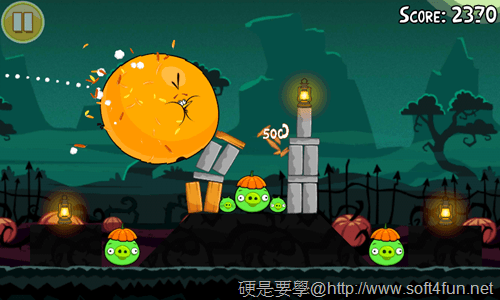 [Android遊戲] 憤怒鳥萬聖節版,有新的「橘鳥」唷~Halloween! _-08