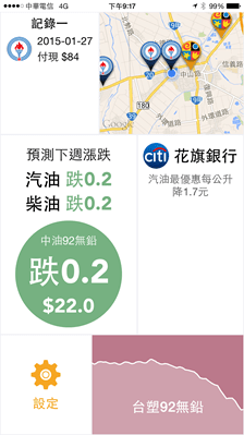 加油省錢就靠它!加油小幫手幫您找加油站、預測周油價與刷卡優惠 2015012721.17.56