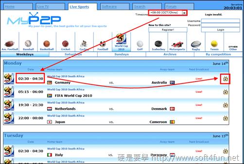 [FIFA] FIFA 2010 世足賽網路線上轉播,網路電視看免驚! MyP2P