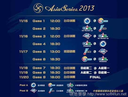 2013亞洲職棒大賽:網路直播/轉播賽程資訊線上看 3bca4b3a8ffd