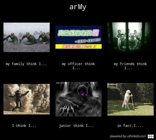 用 U think I Do 製作「別人眼中的你」KUSO惡搞圖片 army