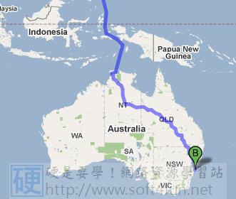 GoogleMap也有航海圖!台灣到澳洲不用搭飛機! 4017370000_99d2461827
