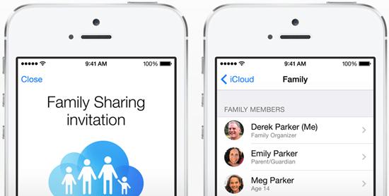 ios 8 新功能-家人共享-家庭成員