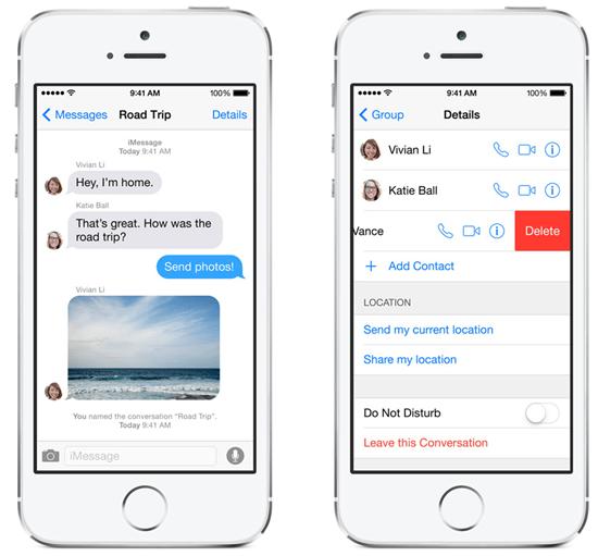iOS 8 訊息功能推出傳送語音、分享即時位置,並可建立對話群組 ios-8---_3