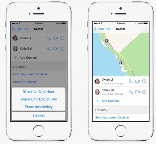 iOS 8 訊息功能推出傳送語音、分享即時位置,並可建立對話群組 ios-8---_4