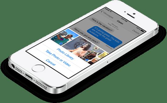 ios 8 新功能-訊息-批次傳檔