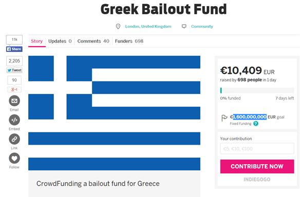 希臘你別倒! 外國網友發起「群募救希臘」 image
