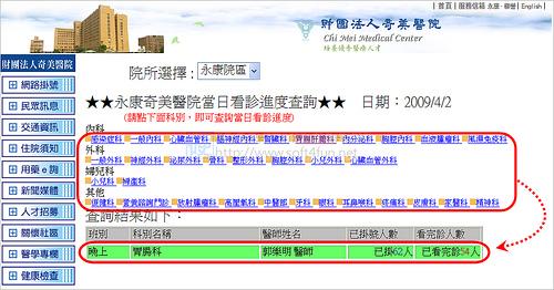 [台南生活] 看診進度網路查,不用再到醫院癡癡的等 (成大、奇美、市立、台南) 3406651341_fb88fc91f4
