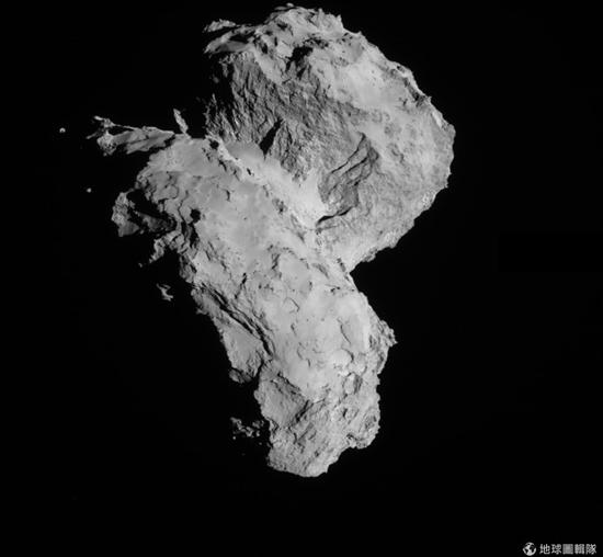羅賽塔新發現:「橡膠小鴨」彗星質量100億噸 橡膠小鴨