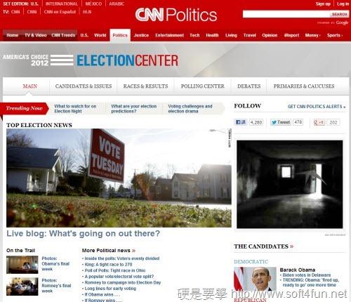 2012 美國總統大選投開票結果及投票資訊查詢 cnn2