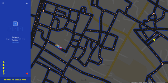 把真實道路變成小精靈地圖,Google地圖推出愚人節特別遊戲 Image61