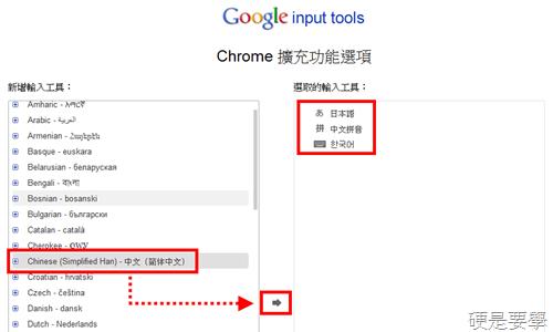 [Chrome] Google輸入工具:免安裝輸入法就能輸入簡體中文、日文、韓文等73國文字 google-01