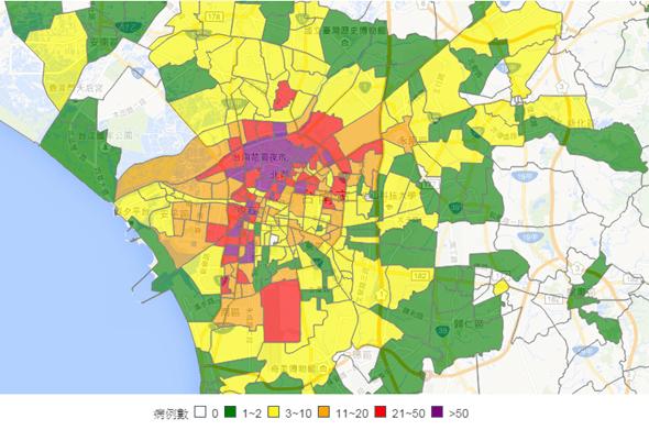 台南登革熱疫情多嚴重,登革熱地圖完整呈現 24afe06f6dd6