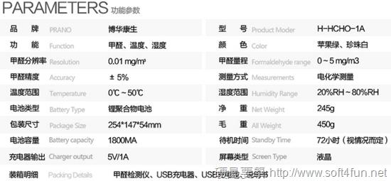 Pranus 多功能空氣品質檢測器,甲醛、化學污染物、溫濕度一機包辦 59ea3f91a122