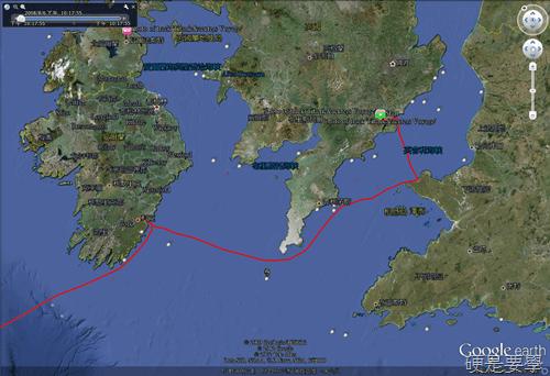 用Google地球看鐵達尼號3D高解析殘骸及航行路線 -02