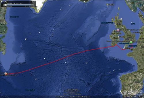 用Google地球看鐵達尼號3D高解析殘骸及航行路線 5a770348a71c