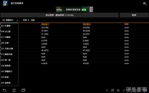 銀行即時匯率:即時查詢15家銀行外幣匯率(Android軟體) -01