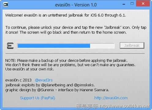 iOS 6.1.2 JB教學(含 evasi0n 及相關備份軟體下載) evasi0n-03