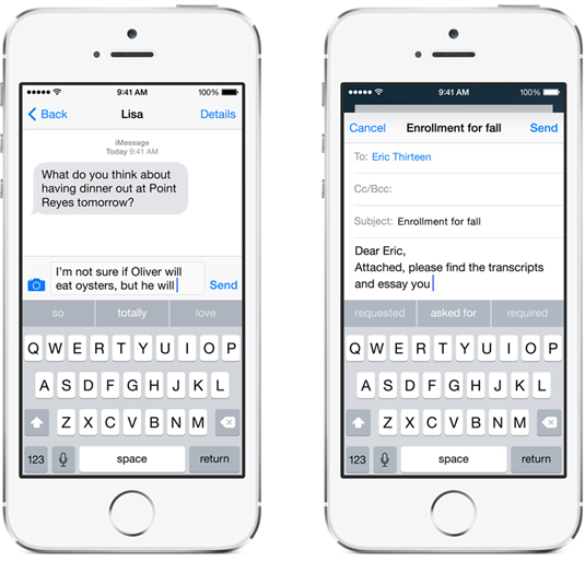 iOS 8 推智慧鍵盤,依情境自動預測輸入字詞並開放自訂鍵盤布局 ios-8---1