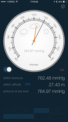 讓 iPhone 6/iPad Air 2 變成氣壓高度計,自動判斷天氣狀況還可量身高 2014111820.32.05