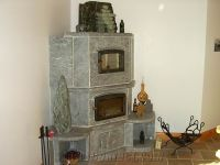 Santa Rita Venata Grey Soapstone Fireplace from Canada ...