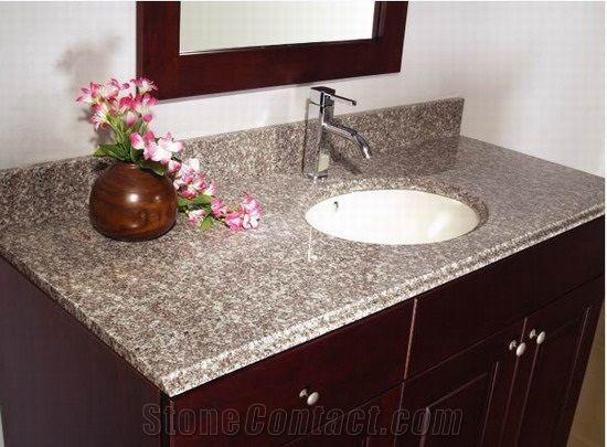 China G623 Granite Bathroom Vanity Tops Stone Bathroom Custom Countertops With Sinks Basins Kitchen Vanity Top Stonecontact Com