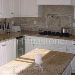 Used Kitchen Countertops Panda Cabinets Juparana Casablanca Indian Granite Fabricated As Worktops