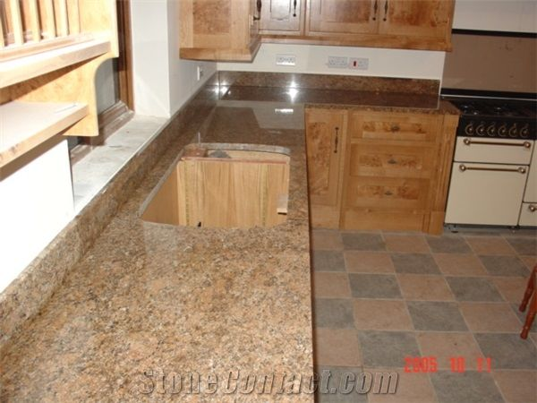 best countertops for kitchens kitchen sideboards giallo veneziano granite from lithuania ...