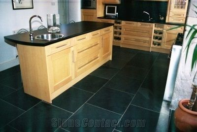 slate kitchen floor vinyl flooring tiles black design from united