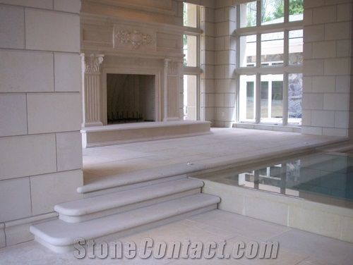jerusalem stone fireplace flooring
