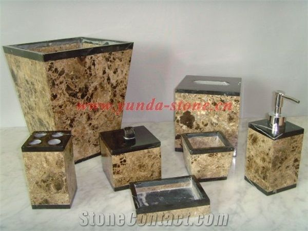 Brown Marble Bathroom Accessories from China