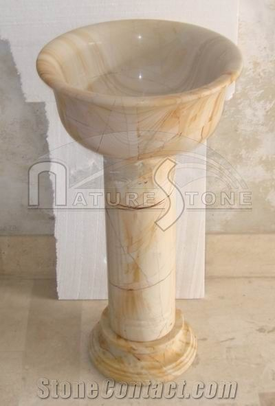 Teakwood Burma Teak Marble Pedestal Sink From Pakistan