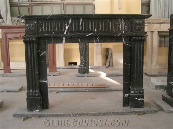 Black Marble Fireplace Mantel from China63623