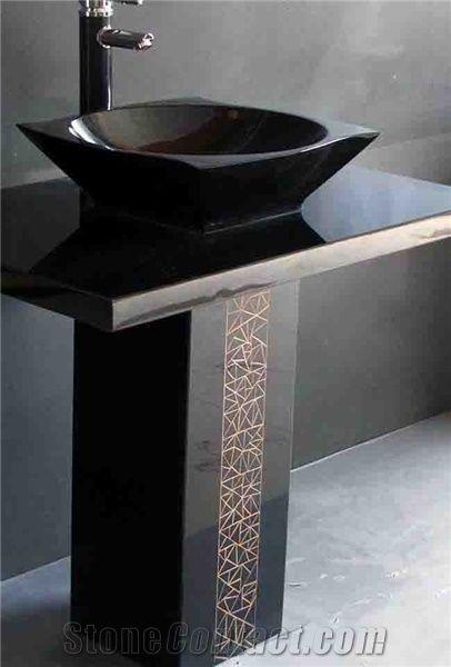 Shanxi Black Pedestal Sink from China103581