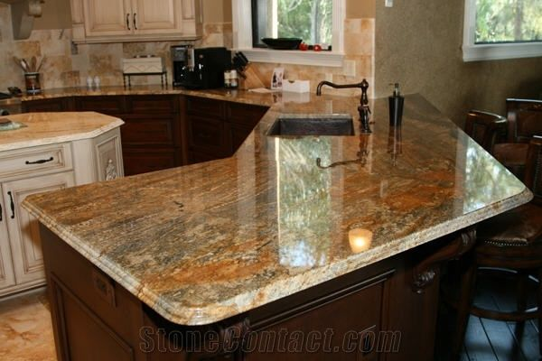 Juparana Golden Flame Countertop from United States