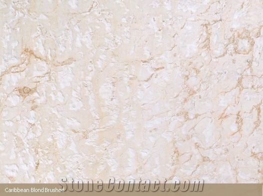 brushed caribbean blond coral stone