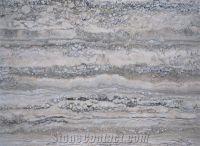 Silver Travertine Vein Cut Slabs Tiles from Spain-80826 ...