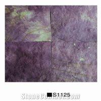 Purple Slate S1125 Slabs Tiles, China Lilac Slate ...