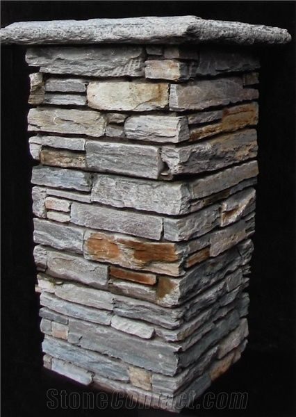 Slate Pillar Cladding Grey Slate Column From China