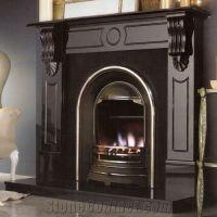 Black Granite Stone Fireplace Mantel from China ...