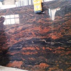 Black Kitchen Sinks How To Refinish Sink Magma Red Granite Slabs Tiles From India - Stonecontact.com