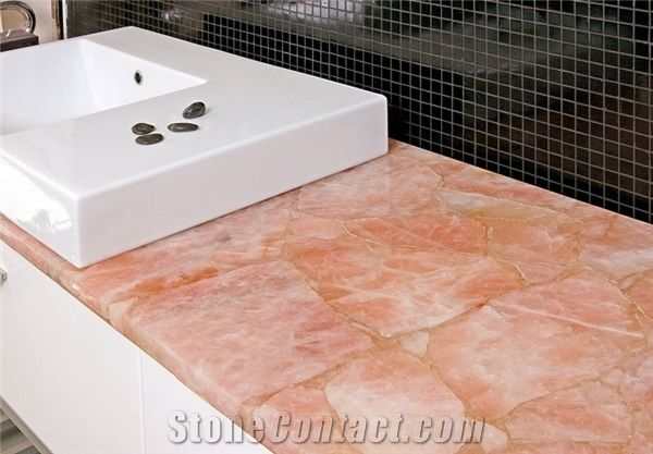 Rose Quartz Countertop Concetto Rose Quartz Semiprecious Stone Countertop From