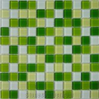 Green Yellow Glass Tile Mosaic Pattern from China ...