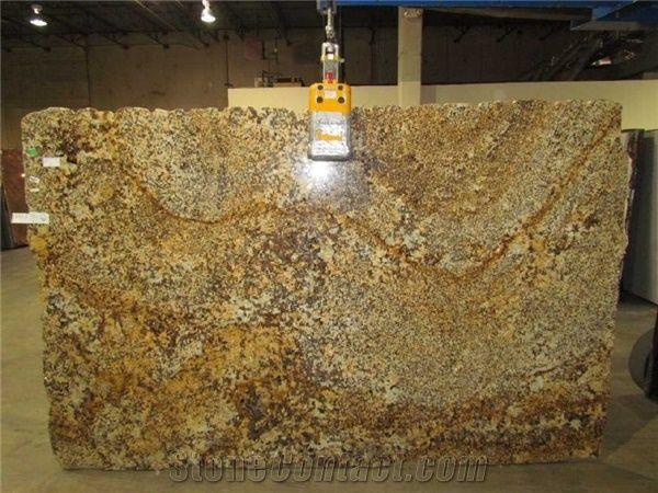 Golden Beach Granite Slabs Brazil Yellow Granite from