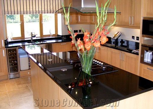 best material for kitchen countertops remodel ideas small kitchens angola black island top, granite ...