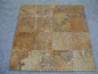 Yellow Travertine Slabs Tiles, Flooring Tiles, Floor