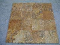 Yellow Travertine Slabs Tiles, Flooring Tiles, Floor ...
