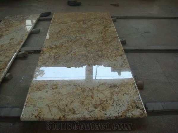 Golden Persa Granite CountertopHigh Polished from China