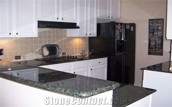 Verde Butterfly Granite Kitchen Top Green Granite from