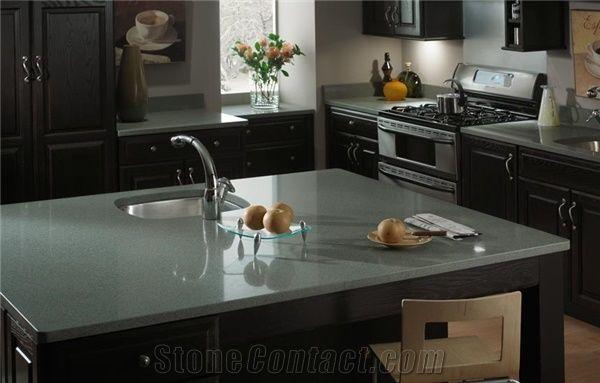 epoxy resin kitchen countertops fruit basket for zodiaq magellan green quartz surfaces countertop from ...